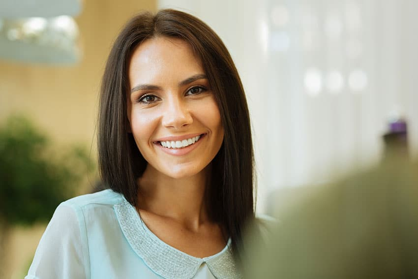 beautiful woman with an amazing smile